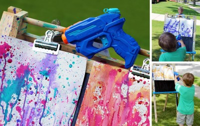 Squirt-Water-Gun-painting-with-kids