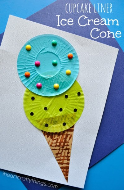 cupcake-liner-ice-cream-cone-craft