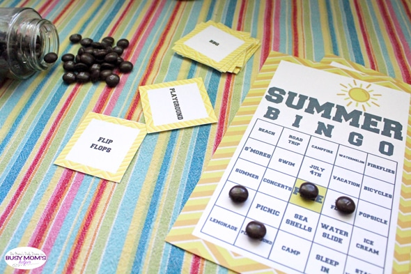 Summer BINGO Game Printable   One Mama's Daily Drama for Busy Mom's Helper