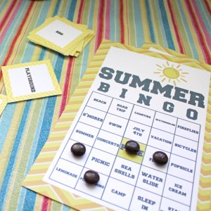 Printable Summer Bingo Game