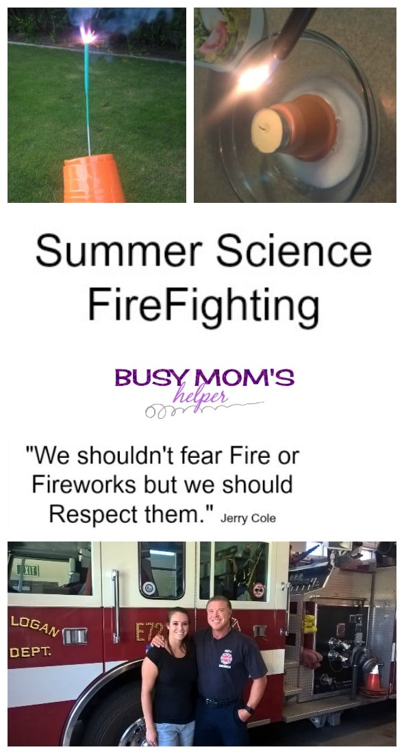 Summer Science FireFighting by Nikki Christiansen for Busy Mom's Helper