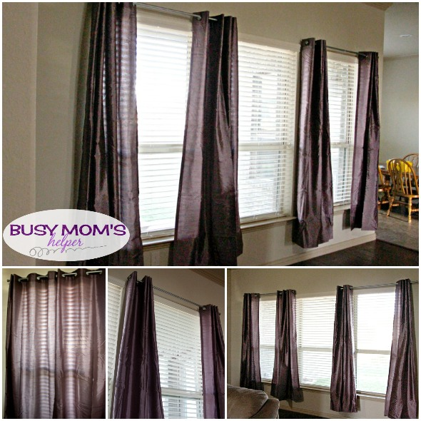Add Dimension to any room with drapes / by BusyMomsHelper.com #ad Decorating your home
