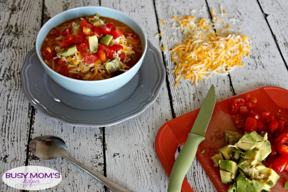 One-Pot Spicy Noodle Soup / by BusyMomsHelper.com #CampbellSavings #ad