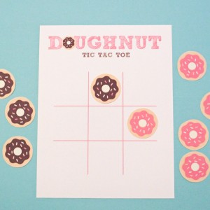 Printable Doughnut Tic Tac Toe Game