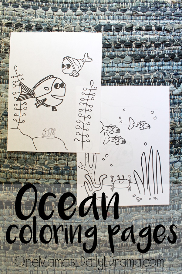 Printable ocean coloring pages from OneMamasDailyDrama.com