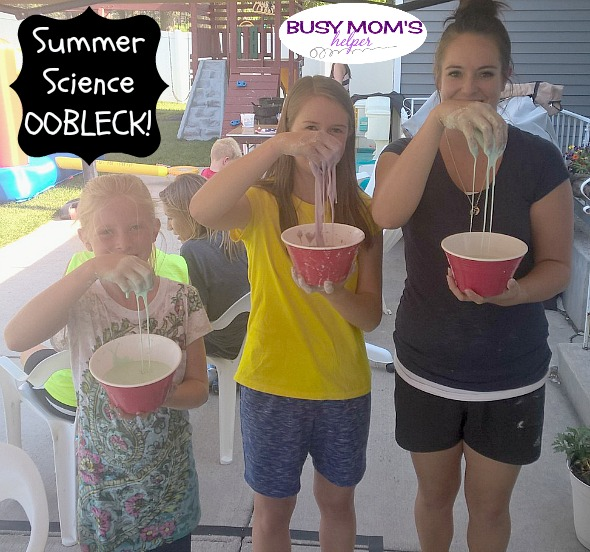 Summer Science Oobleck! by Nikki Christiansen for Busy Mom's Helper