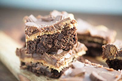 fully loaded reese's brownies