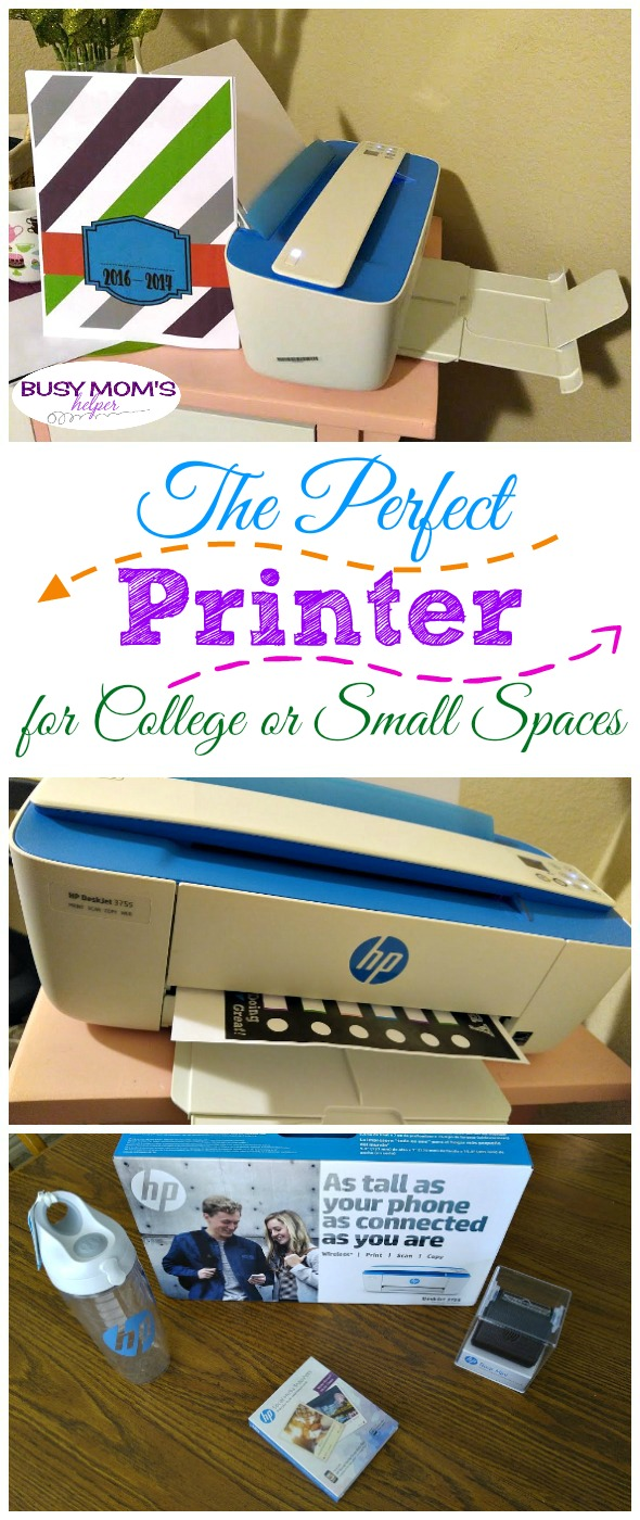 The Perfect Printer for College or Small Spaces / HP DeskJet 3755 All-in-One Printer #HPMillennials #ad