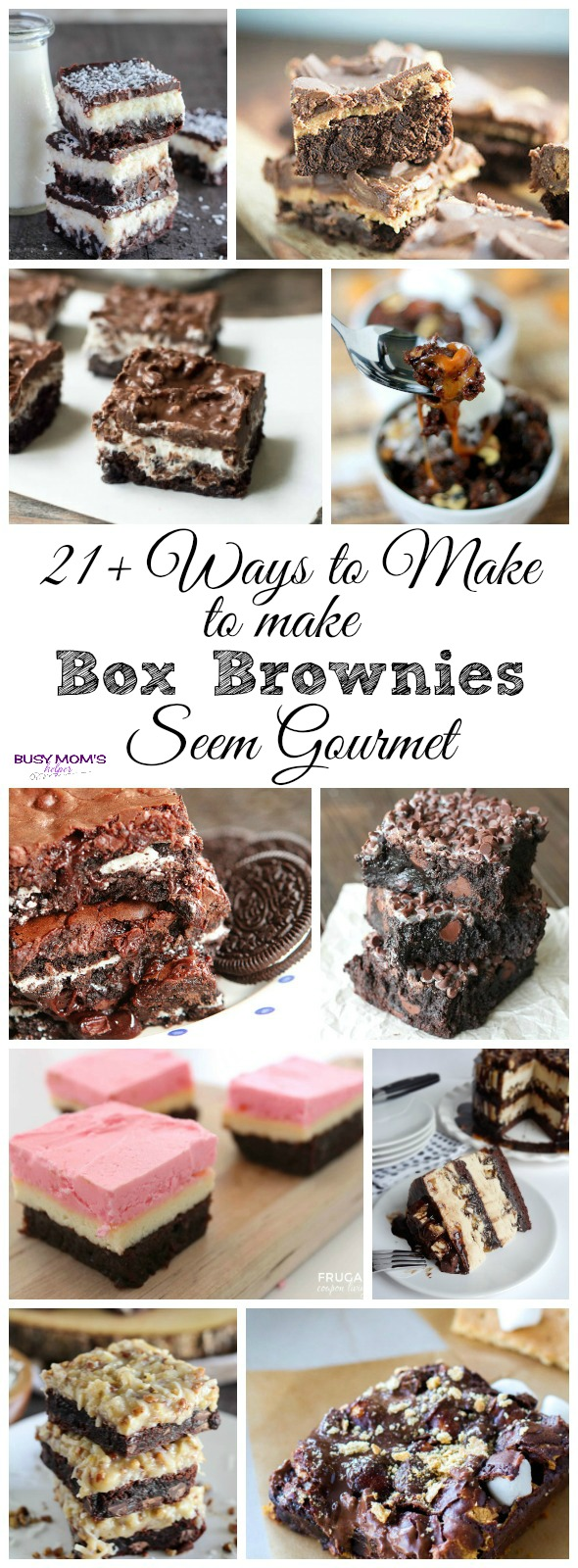 21+ Ways to Make Box Brownies Seem Gourmet / When you're in a hurry, make box brownies better with these great ideas!
