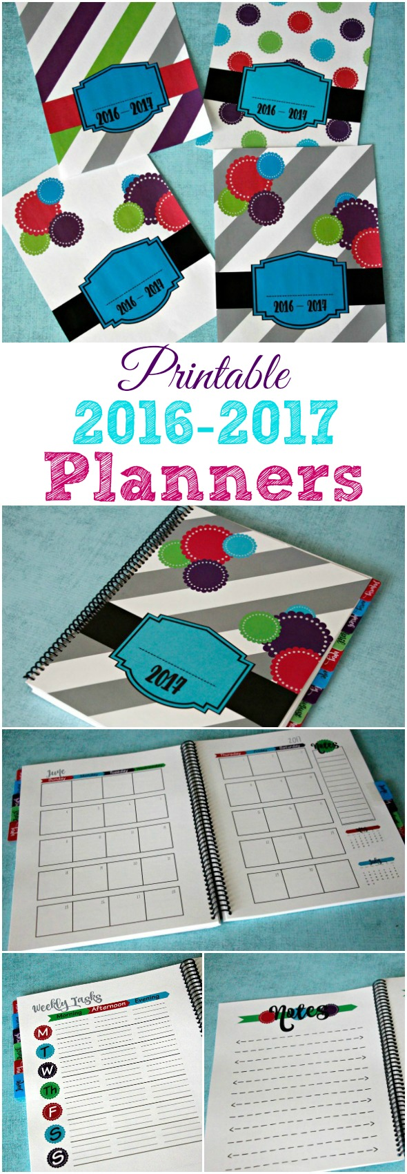 2016-2017 Planners / 2017 Planners / Printable Download or Printed & Spiral Bound / Home Management and Life Planner #ad