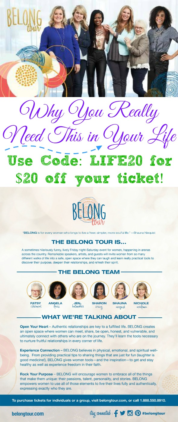 The BELONG Tour #ad #BELONGTour An incredible event by/for women coming to a city near you in 2016!