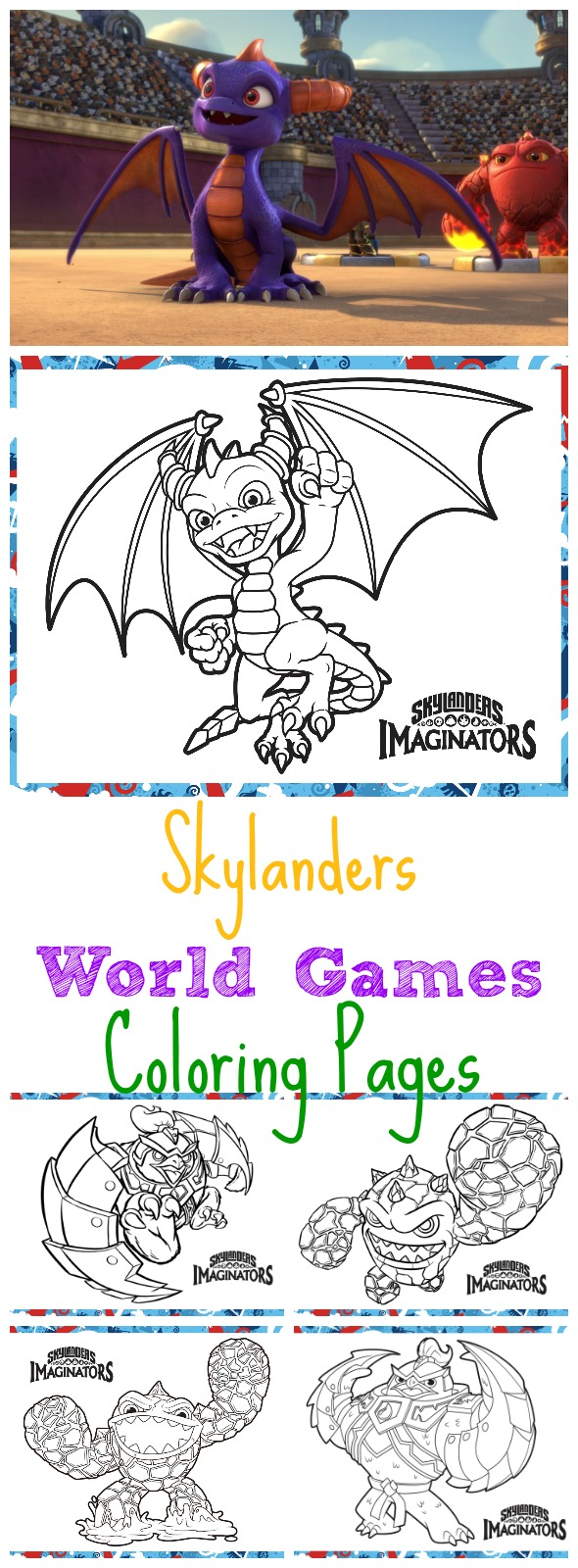 Skylanders World Games Coloring Pages - Busy Moms Helper