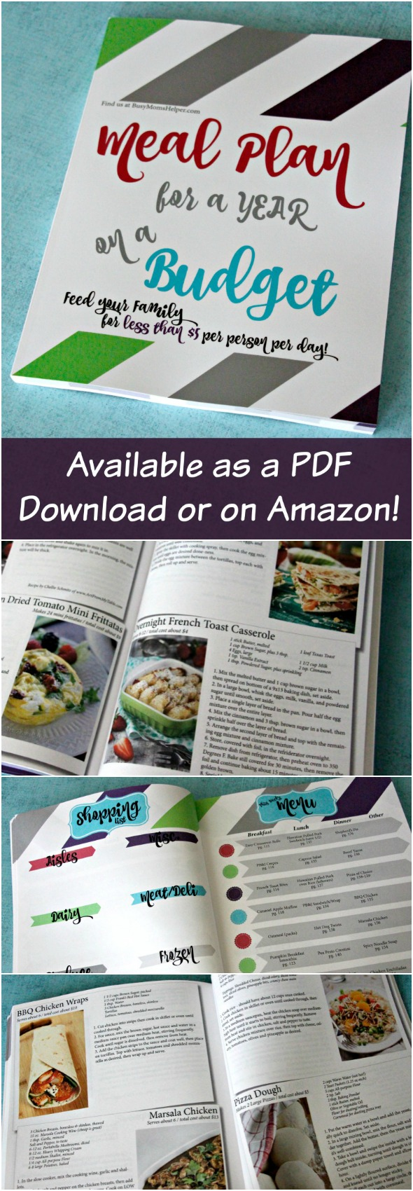 Meal Plan on a Budget: Feed Your Family for Less than $5 Per Person a Day / A full 52 Week Meal Plan #ad