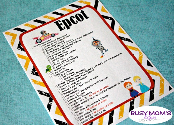 Free printable walt disney world ride checklists busy moms helper free printable walt disney world ride checklists gumiabroncs Image collections
