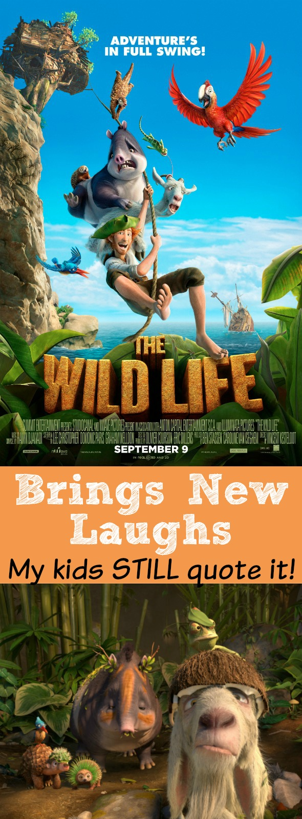 The Wild Life Brings New Laughs - my kids STILL quote it! #sponsored #thewildlife