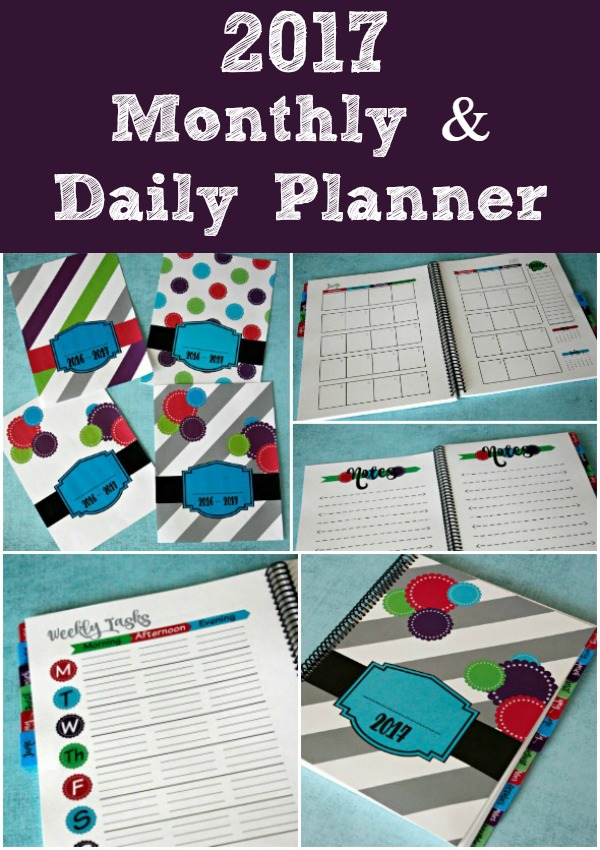 2017 Daily Planner and Calendar