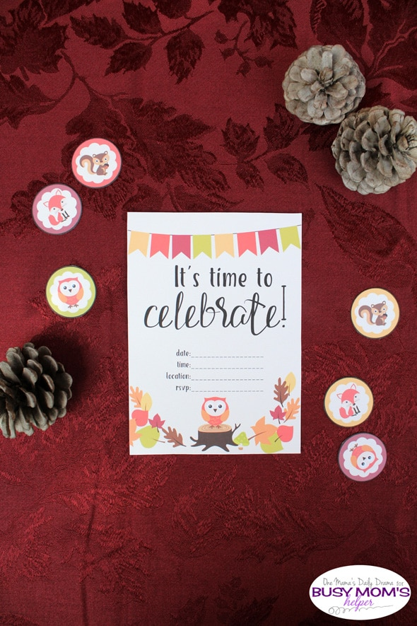 Printable fall party invitation | One Mama's Daily Drama for Busy Mom's Helper