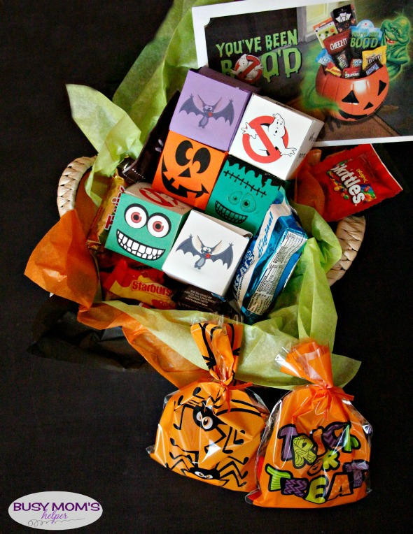 Printable Halloween BOOing Boxes / a great idea for 'You've Been BOO'd' #BOOItForward @Walmart #ad