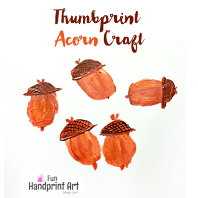 Thumbprint-Acorn-Craft-for-kids