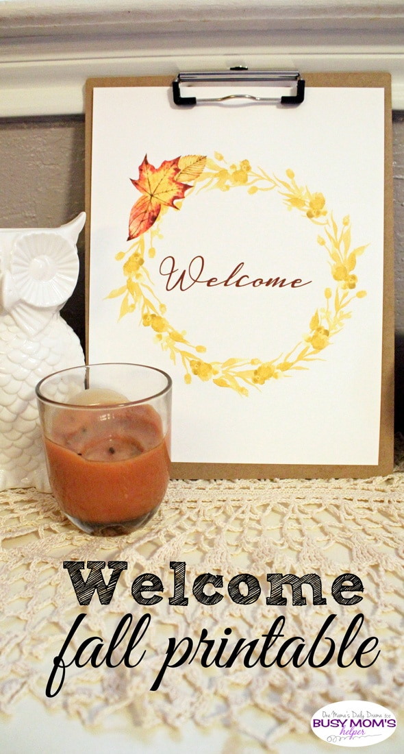 Welcome fall printable wreath
