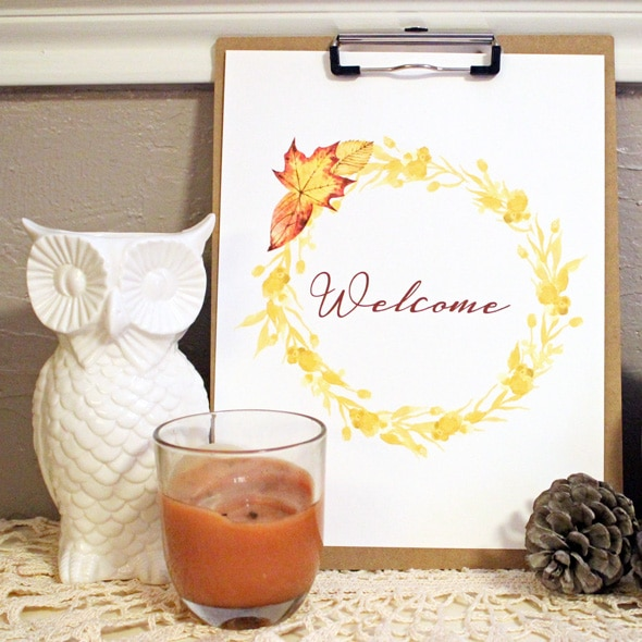 Welcome Fall Printable Sign Busy Moms Helper