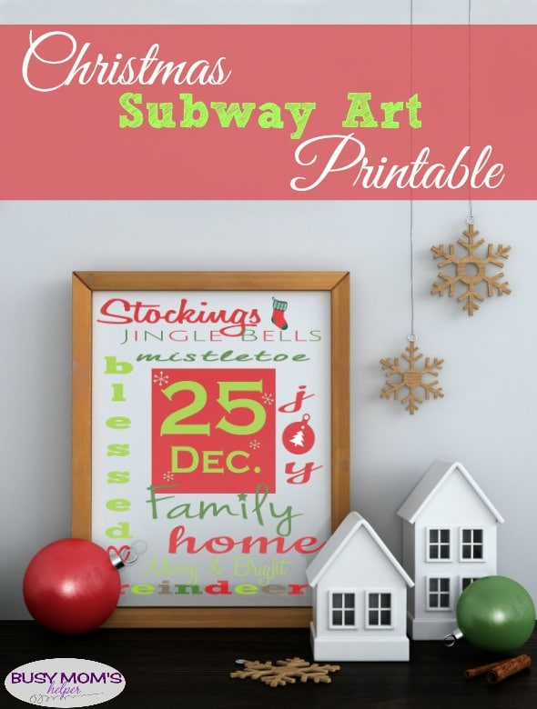 Christmas Subway Art Printable
