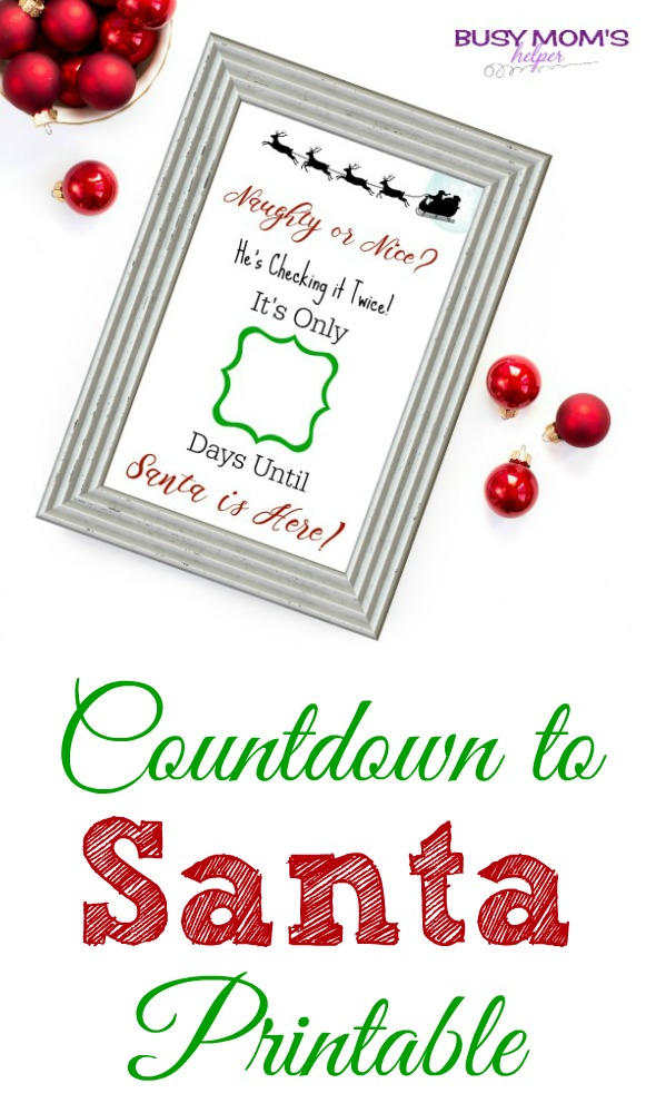 Countdown to Santa Printable
