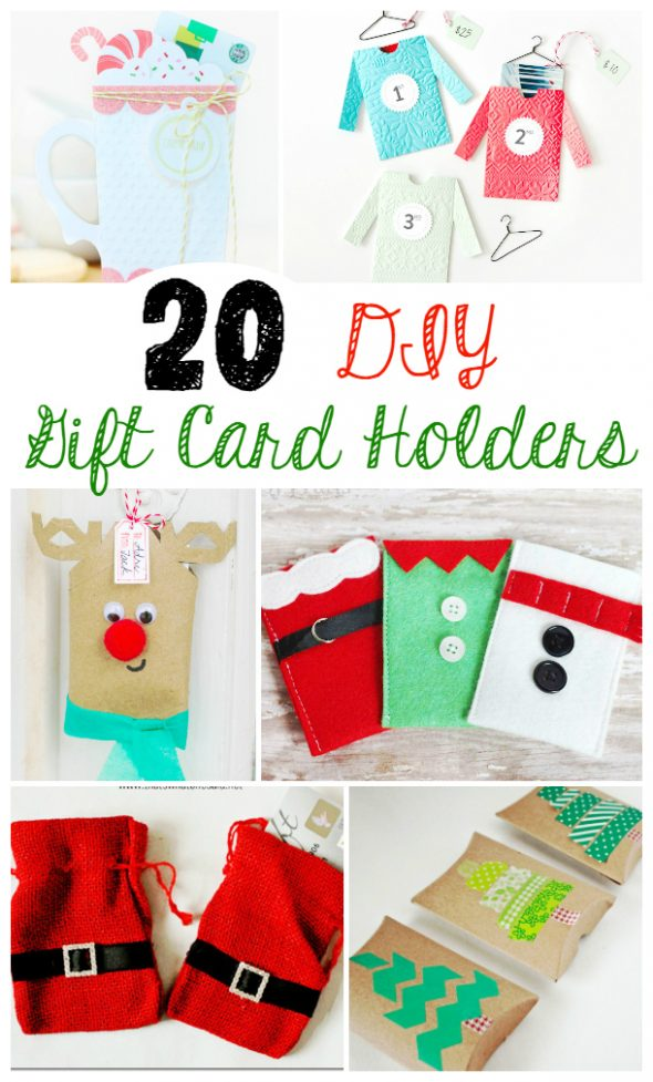 20 DIY Gift Card Holders! Lots of great ideas for doing gift card gifts this holiday