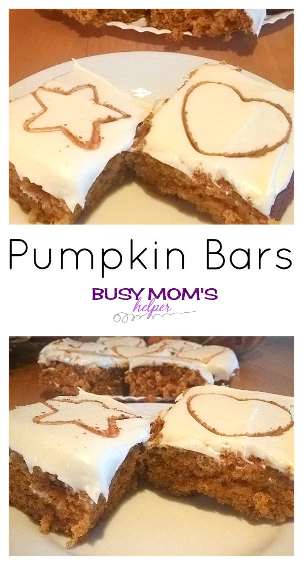 Pumpkin Bars by Nikki Christiansen for Busy Mom's Helper