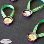 Bottle Cap Grinch Ornament Printables