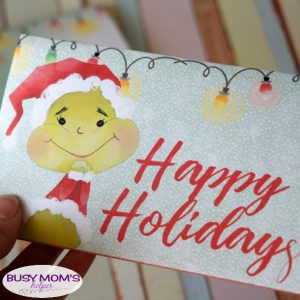 Printable Grinch Popcorn Wrapper Gift Idea
