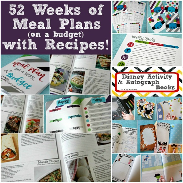 HUGE Sale on Great Gift Ideas: 2017 Planners, Disney Autograph & Activity Books, and 52 weeks of Meal Plans WITH Recipes done for you - on a budget! #ad