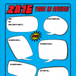 Free Printable Superhero Kids Year in Review