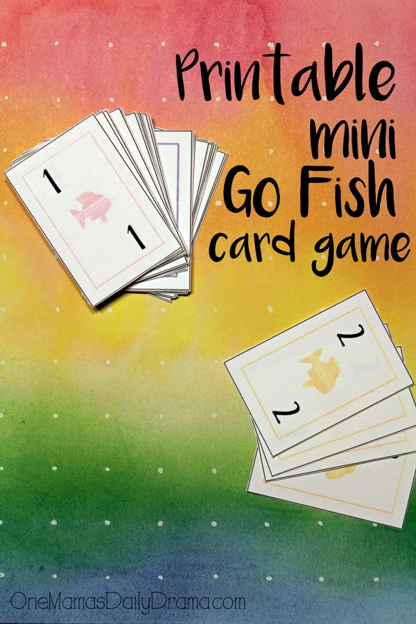 Printable Mini Go Fish card game | OneMamasDailyDrama.com