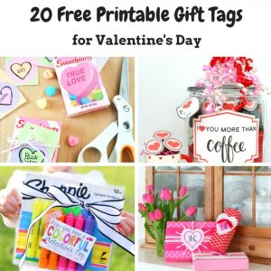 20 Free Printable Valentine's Day Gift Tags