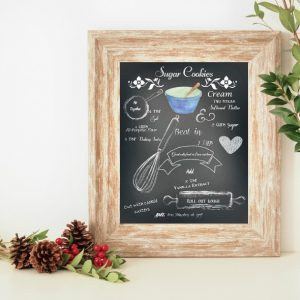Chalkboard Sugar Cookie Recipe Printable