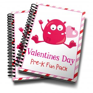 Valentine Monster Preschool Printable Fun Pack