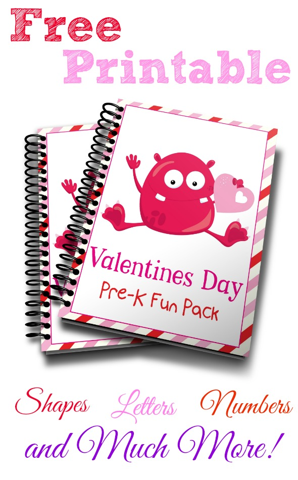 Monster Valentines Preschool Fun Pack Free Printable