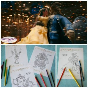 Beauty & The Beast Coloring Pages