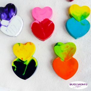 Heart Shaped Crayons for Valentine's Day