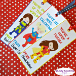 Superhero Girl Valentines Bookmarks