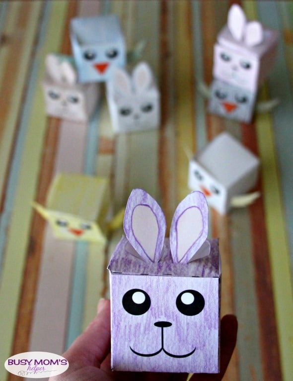 Easter Box Printables - a fun Easter gift or craft idea!