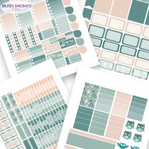 Free Printable Owl Planner Stickers