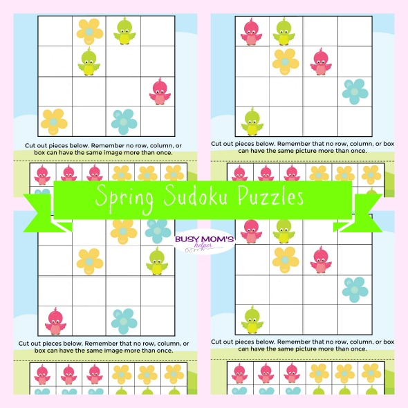 spring sudoku puzzles for kids busy moms helper