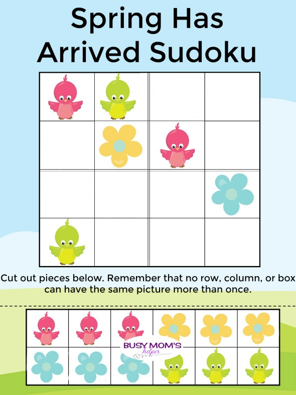 Spring Sudoku - Busy Mom's Helper