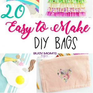 20 Easy to Make DIY Bags