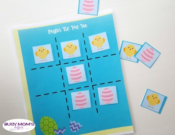 Easter Tic Tac Toe - Busy Mom's Helper