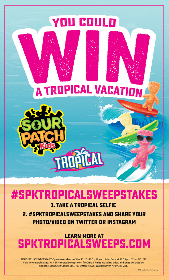 Win big with Sour Patch Kids Tropical Sweepstakes! #spktropicalsweepstakes #ad @sourpatchkids @walmart