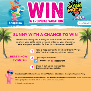 Win Big with SOUR PATCH Kids Tropical Sweepstakes