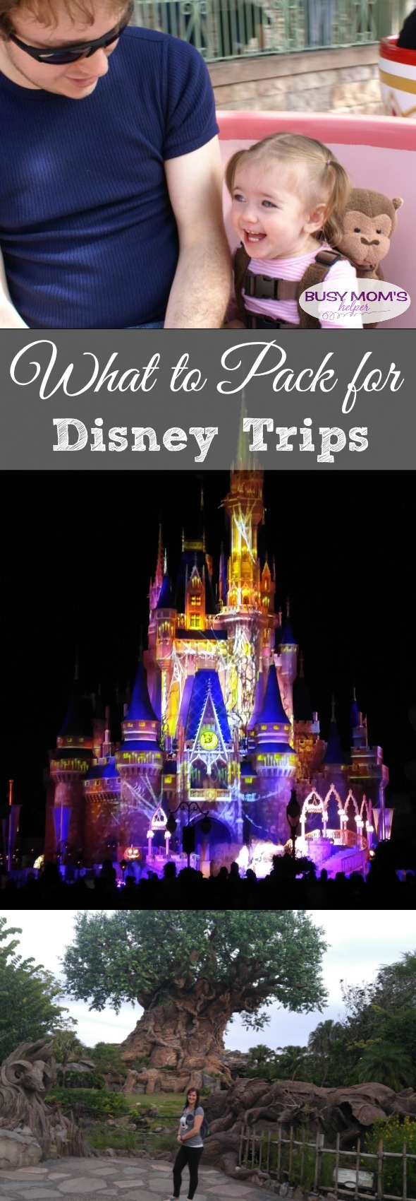 What to Pack for Disney Trips / a great list of what you should take to theme parks